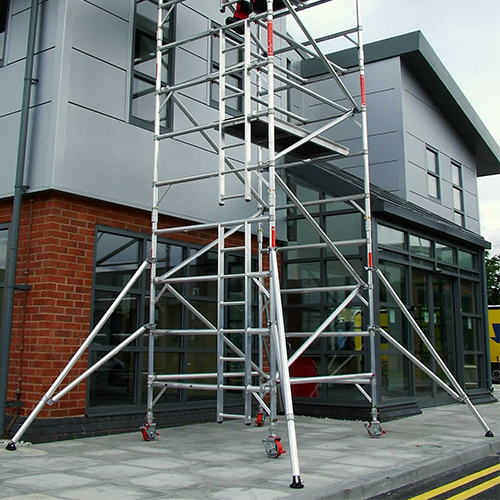 2.5m Double Width 13.7m Working Height Scaffold Tower Weekly Hire