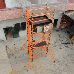 1.8m Double Width 9.2m Working Height GRP Scaffold Tower Weekly Hire