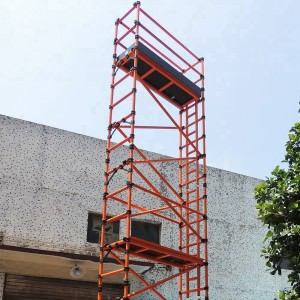 2.5m Single Width 11.2m Working Height GRP Scaffold Tower Weekly Hire