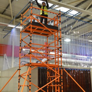 2.5m Double Width 9.2m Working Height GRP Scaffold Tower Weekly Hire