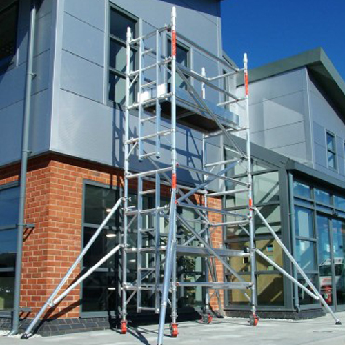 2.5m Single Width 7.7m Working Height Scaffold Tower Weekly Hire