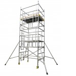 2.5m Double Width 9.7m Working Height AGR Scaffold Tower Weekly Hire