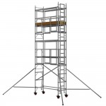 2.5m Single Width 6.7m Working Height AGR Scaffold Tower Weekly Hire